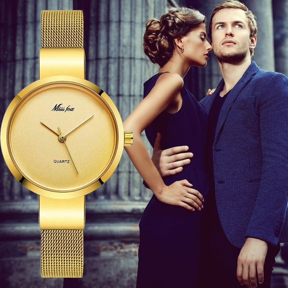Miss Fox Small Minimalist Mesh Watch