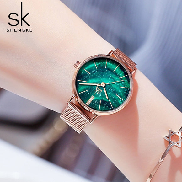 Starry Sky Patterned Women's Watch