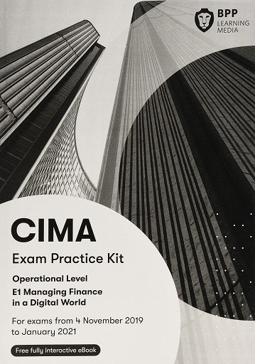 CIMA 2019-20 E1 Exam Practice Kit