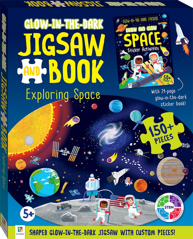 Glow-in-the-dark Jigsaw and Book: Exploring Space