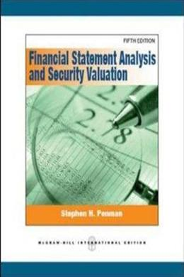 Financial Statement Analysis and Security Valuation,5ed