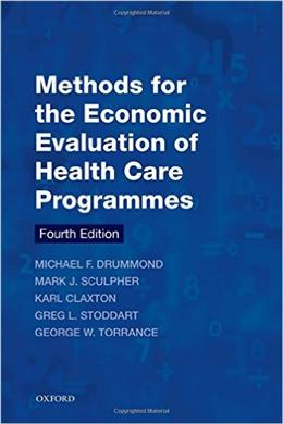 Methods for the Economic Evaluation of Health Care Programmes, 4E