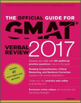 The Official Guide For GMAT Verbal Review 2017 With Online Question Bank