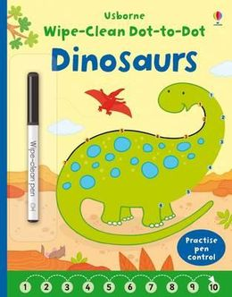 Usborne Wipe-Clean Dot-to-Dot Dinosaurs