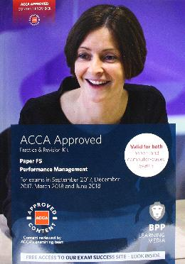 ACCA F5 (Revision) Aug 2018 Performance Management