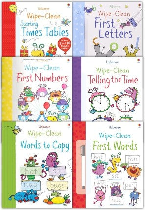 Usborne Wipe Clean Books Pack Set