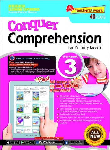Conquer Comprehension For Primary Levels Workbook 3 + YooBook