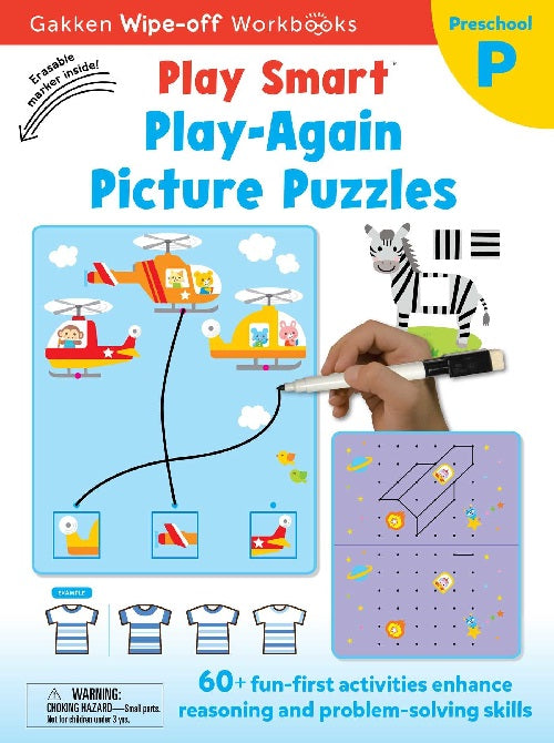 Playsmart Wipeoff: Play Again Pictures Puzzles