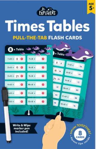 Junior Explorers®: Times Table Pull-the-Tab Flash Cards