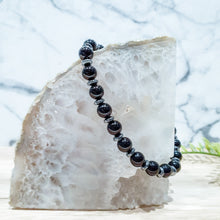 Load image into Gallery viewer, Black Onyx Gemstone Bracelet with Gunmetal Hematite