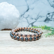 Load image into Gallery viewer, Hematite Bracelet in Silver, Rose Gold and Gunmetal.