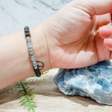 Load image into Gallery viewer, Shungite Bracelet with Labradorite. EMF Protection Bracelet.