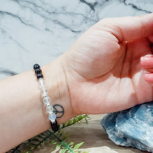 Load image into Gallery viewer, Shungite Bracelet with Aura Quartz - EMF Protection