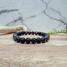 Load image into Gallery viewer, Diffuser Bracelet for Men with  Larvikite and Lava Stone