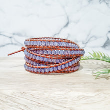 Load image into Gallery viewer, Leather Wrap Bracelet - 5 Layer Wrap