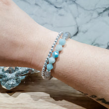 Load image into Gallery viewer, Labradorite Bracelet with Amazonite and Silver Hematite