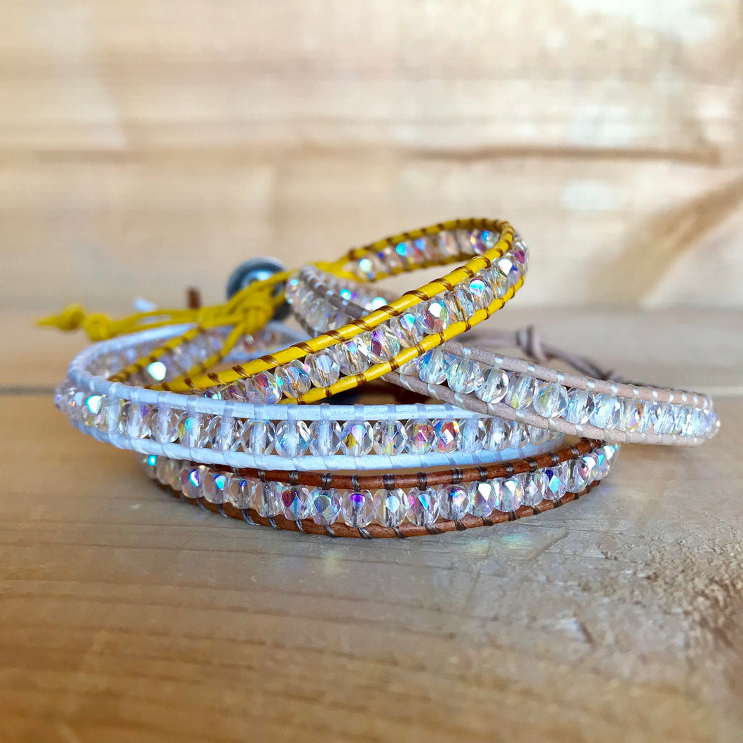 Leather Wrap Bracelet - Single - Each Bracelet Sold Separately