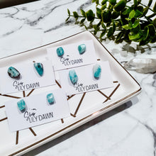 Load image into Gallery viewer, Amazonite Gemstone Stud Earrings