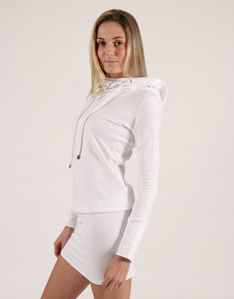 White-Long-Sleeve-Hooded-Dress-AC153