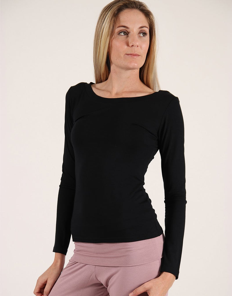 Black-Simple-Long-Sleeve-Top-TL318