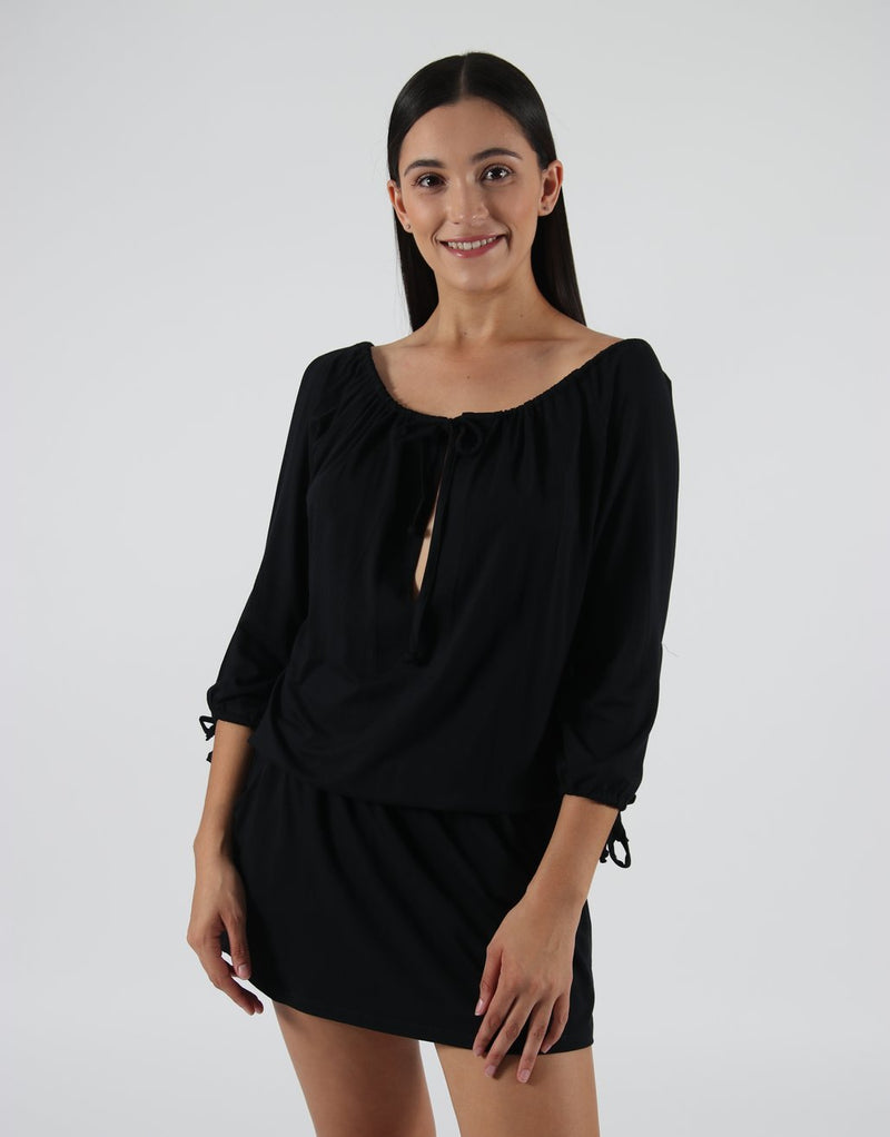Black-Dress-Top-With-Split-Sleeves-AC068