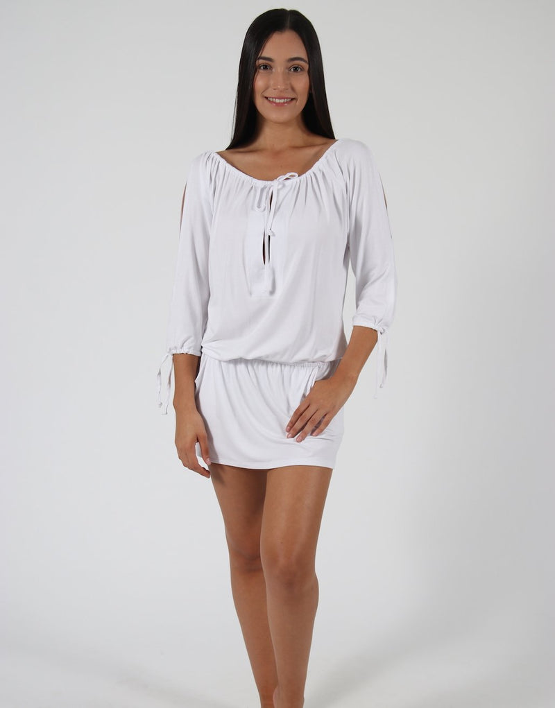 White-Dress-Top-With-Split-Sleeves-AC068