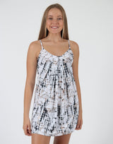 Oriental-Strappy-Dress-With-Front-Pleats-AC275