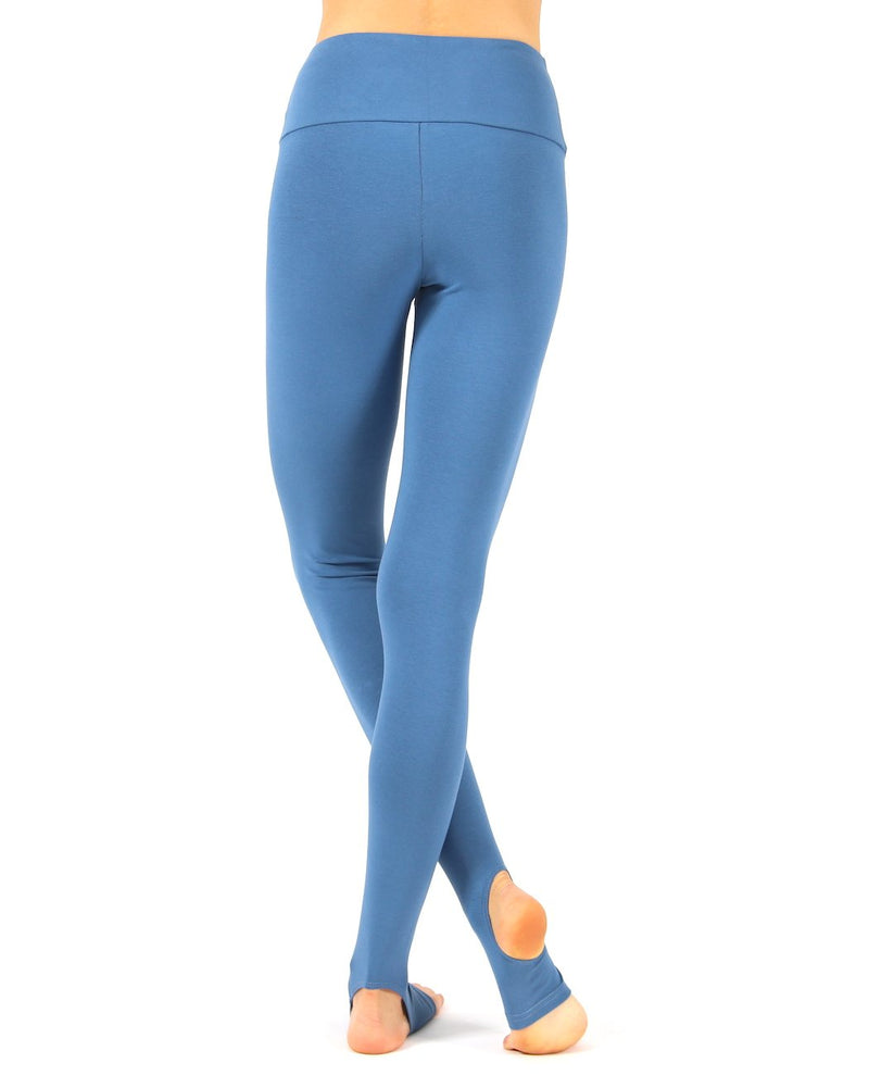 Blue-Horizon-Cotton-Rich-Open-Heel-Yoga-Leggings-PL233