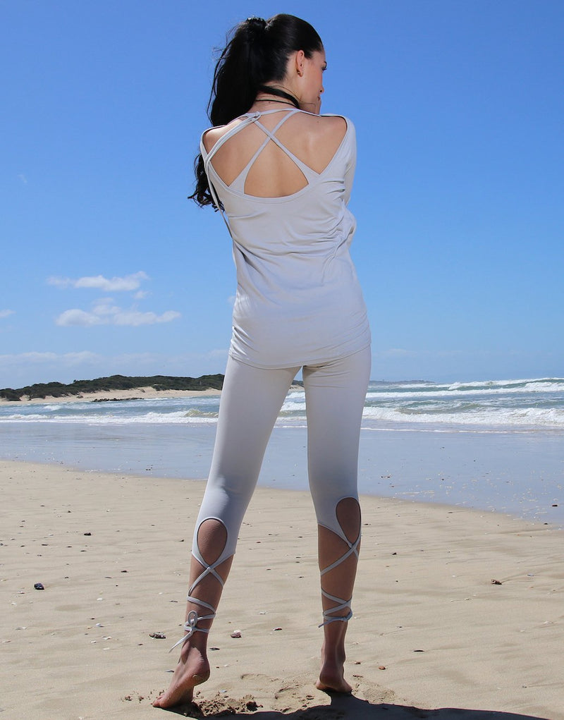 Lunar-Rock-3/4-Leggings-with-Thin-Ties-PT256