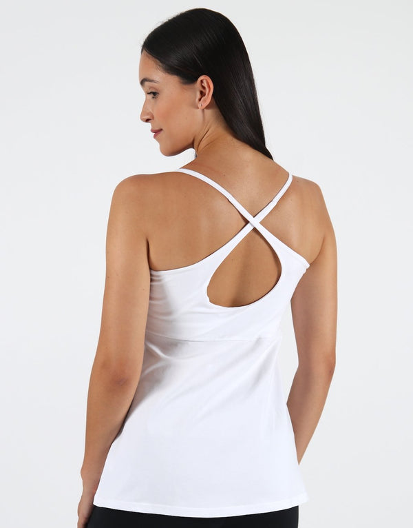 White-Loose-X-Back-Support-Vest-(Cotton-Rich)-TS456
