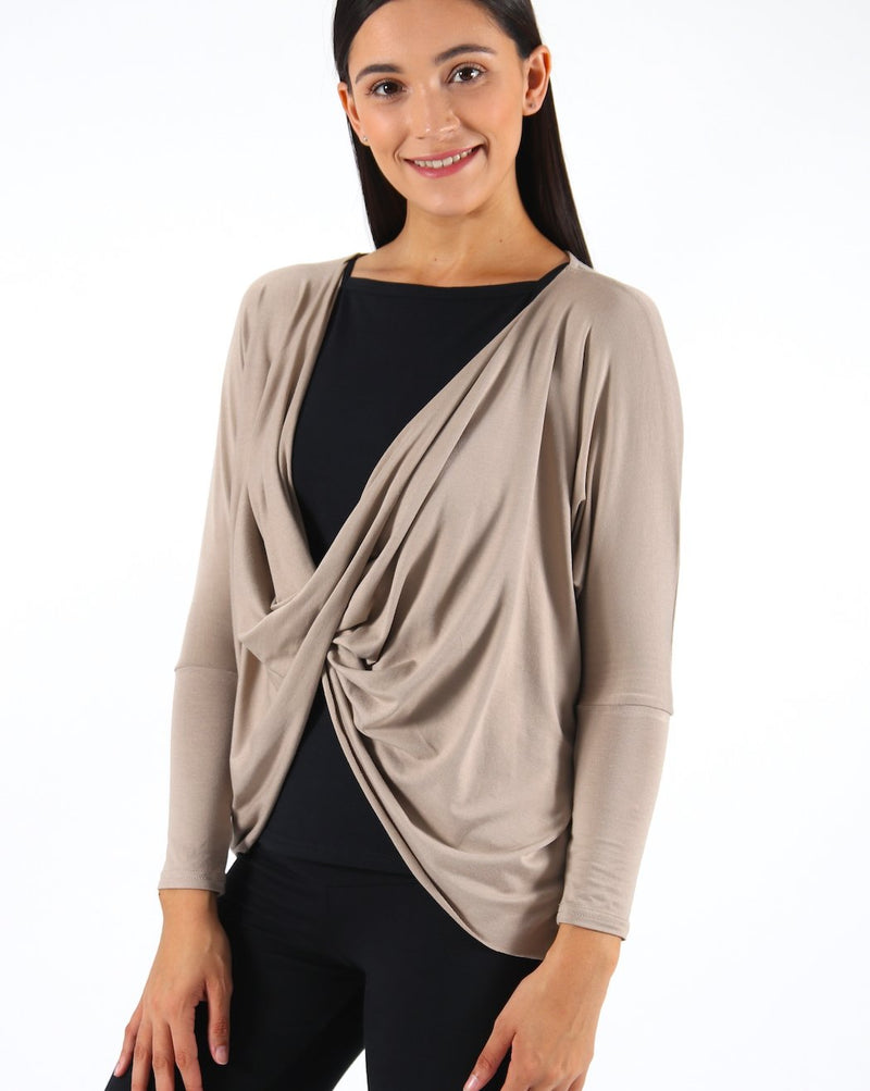Mocca-Twist-Front-Long-Sleeve-Top-TL113