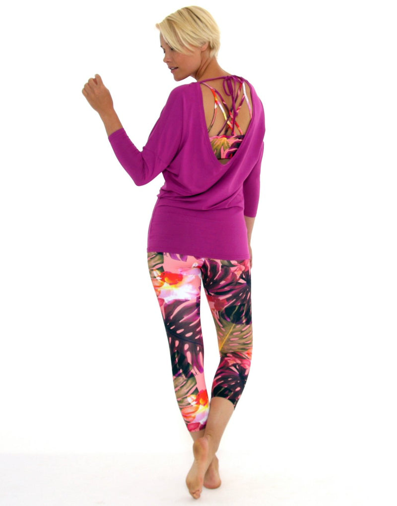Floral-Bodysculpt-7/8-Length-Legging-PT358