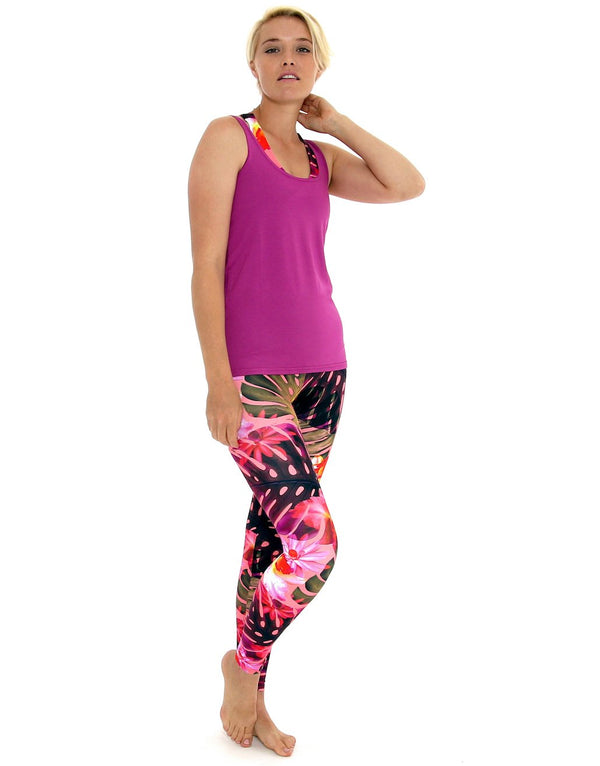 Magenta-Loose-Fit-Longline-Vest-Top-TS203