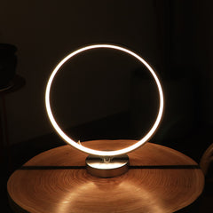 Circular LED Lamp, Minimalist RGB Desk Lamp