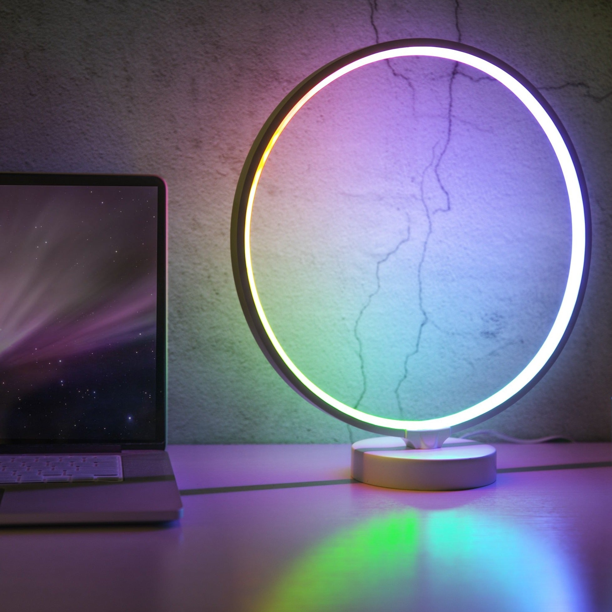 Circular RGB table lamp