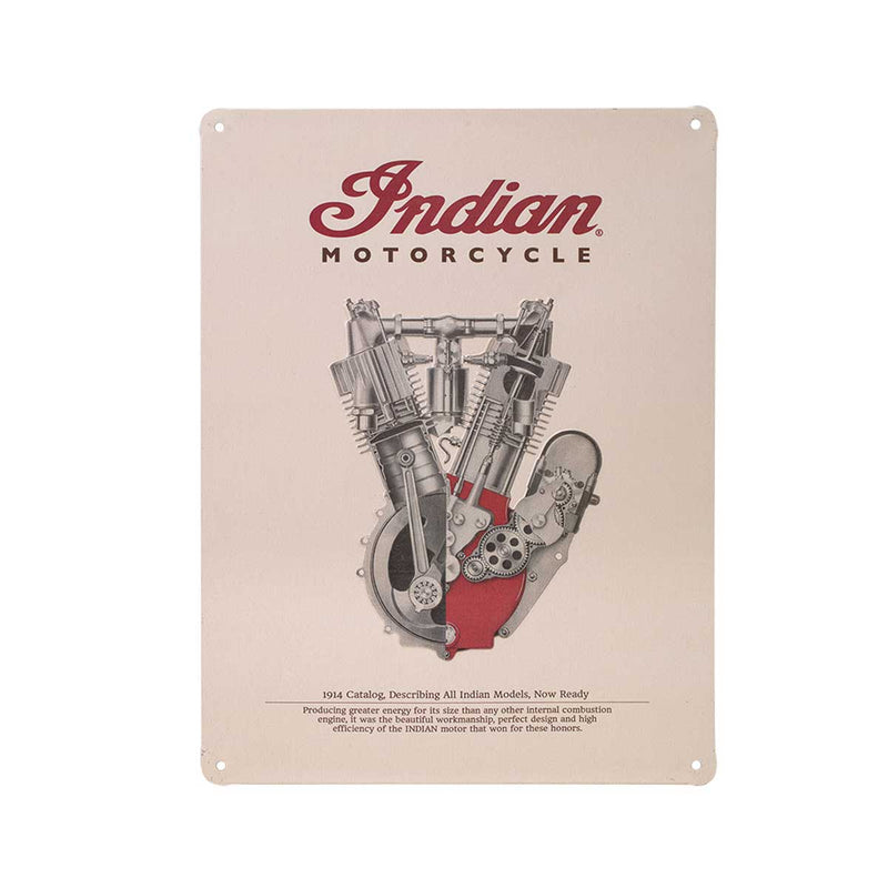 Indian 1914 Engine Sign - Saltire Motorcycles