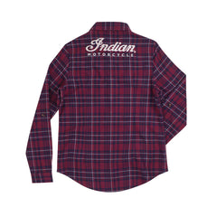 Indian Ladies Red Plaid Shirt - Saltire Motorcycles