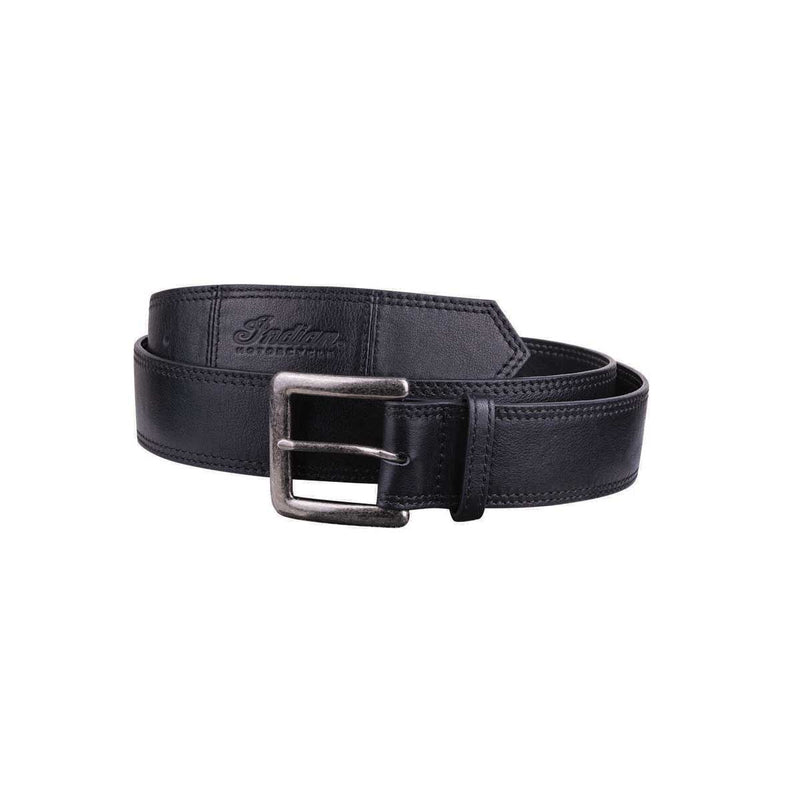 Indian Black Leather Belt - Saltire Motorcycles