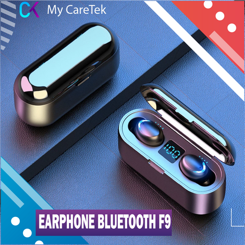 Headset Bluetooth F9 TWS - Power Bank