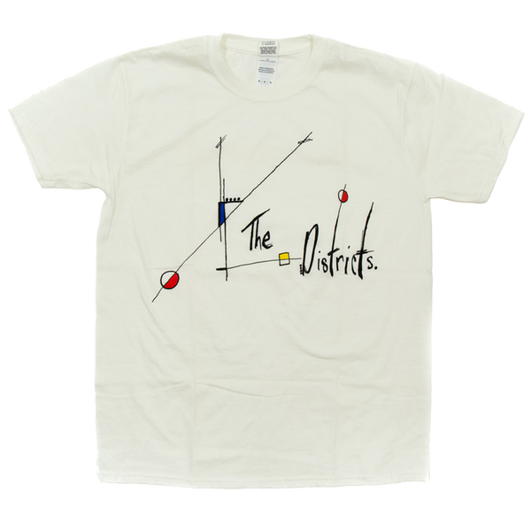 White Abstract Art Logo Tee