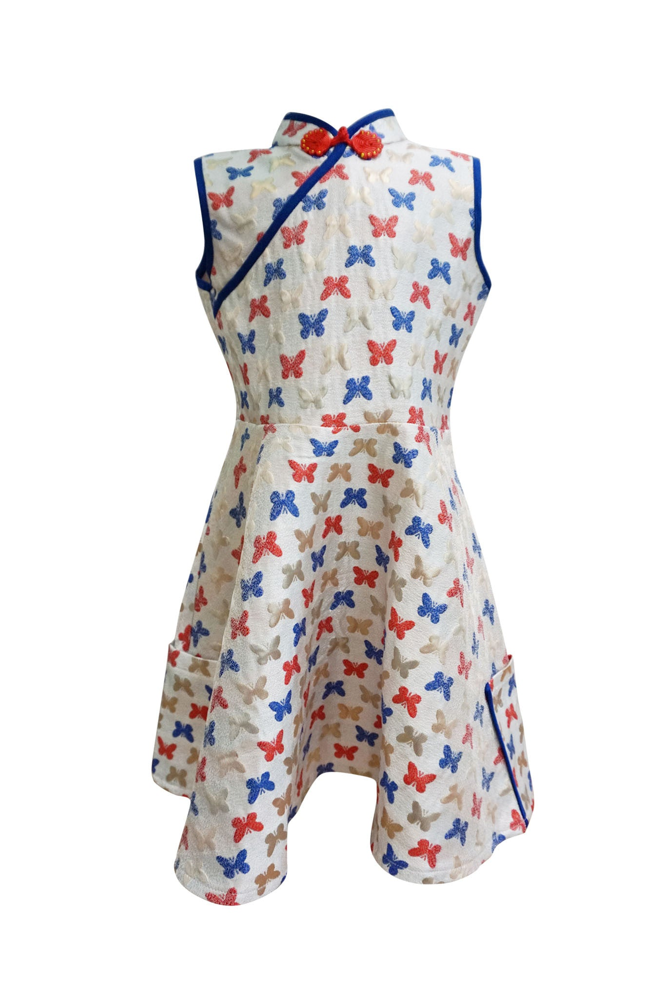 Butterfly Embroidered Cheongsam Dress - Kids (Sample Piece)