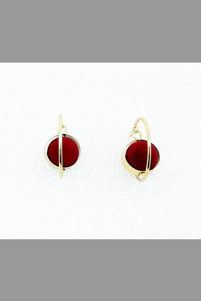 Korea Style Earring (Red wine)