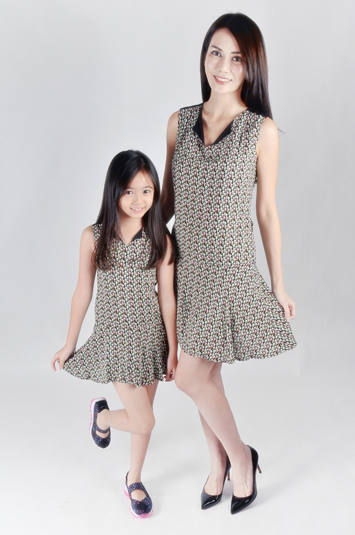 Kids- Floral Printed Peplum Dress