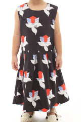 Basis Print Flower Mini Dress (Kids) - (Sample Piece)