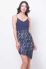 Glitter Glam Cherie Dress (Navy Blue)