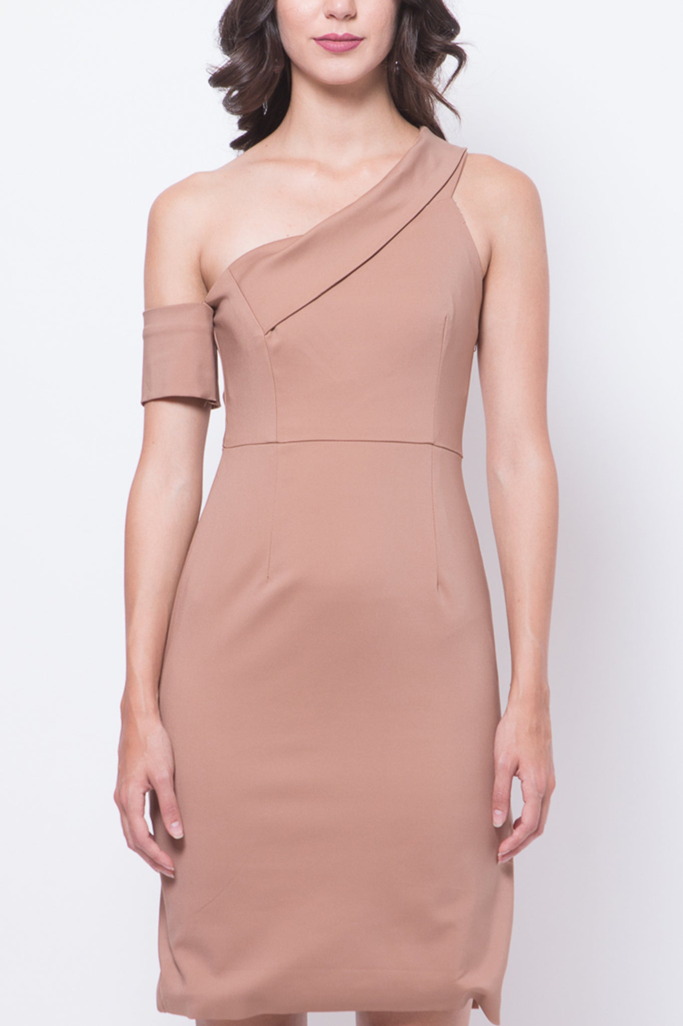 Glitter Glam Laura Dress (Brown)