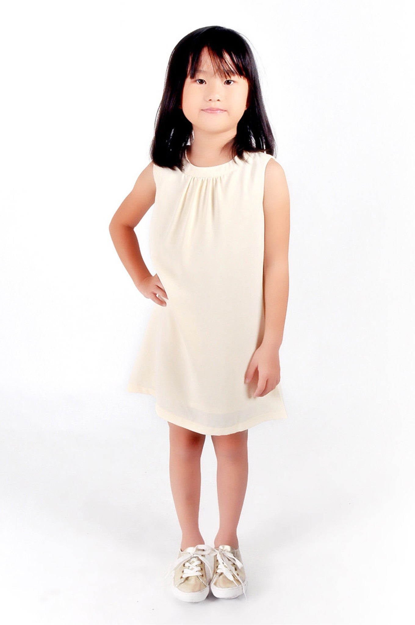 Kids Sleeveless Power Overlap Dress