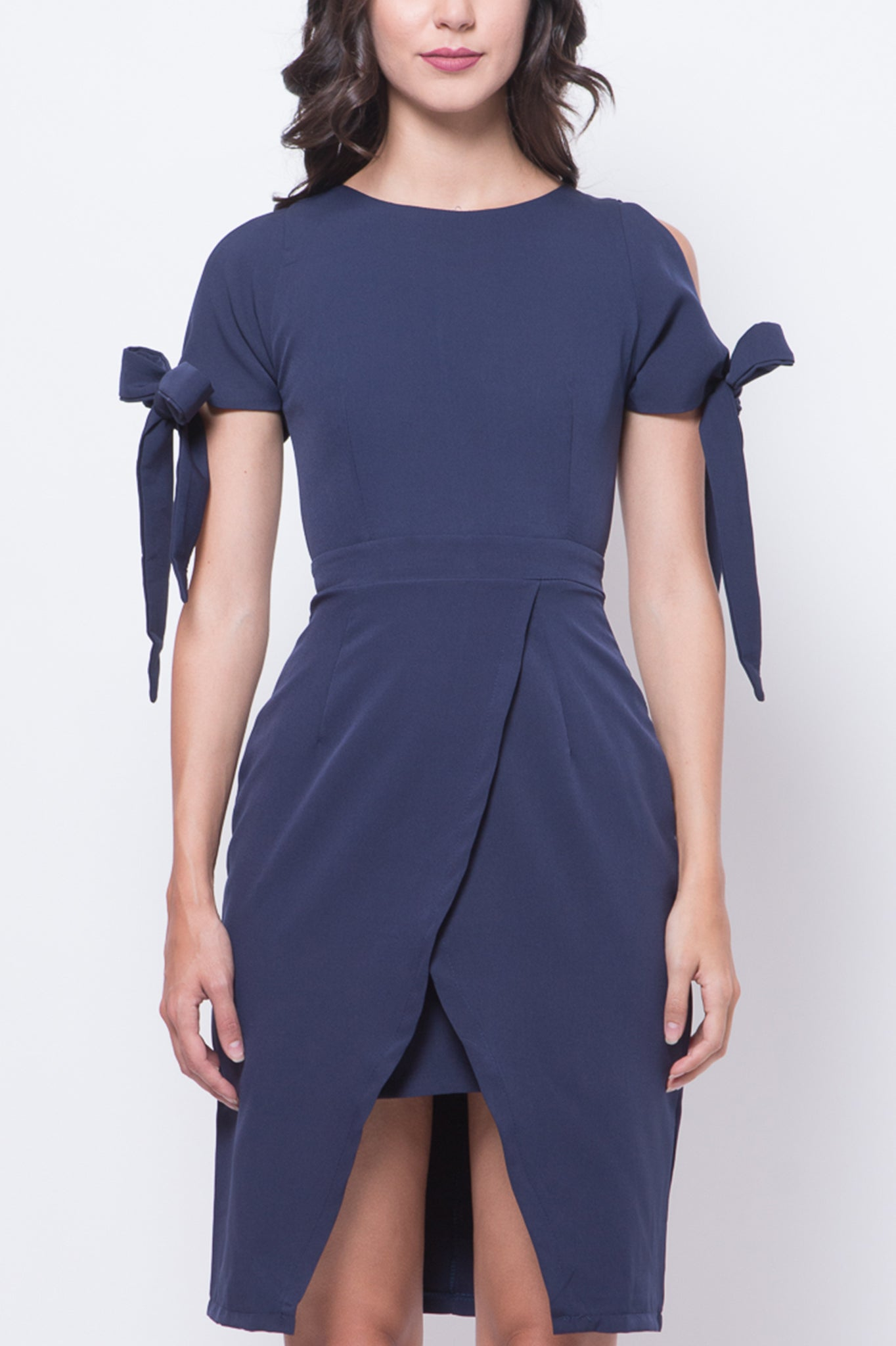 Glitter Glam Wengie Dress (Navy Blue)