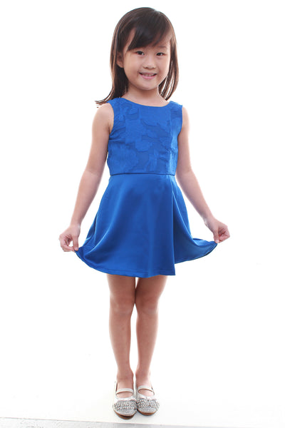 Little Blue Mini Evening Dress