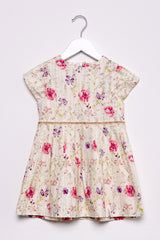 Short sleeve allover print dress